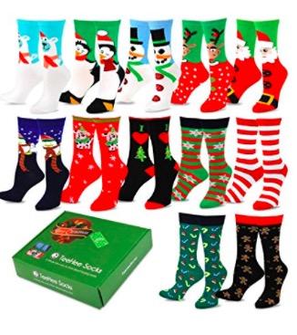 Women S 12 Days Of Christmas Socks Set For Just 21 99