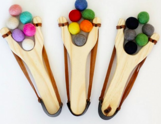 Get a Wooden Slingshot and Felt Ball Ammo Set for only $11.99!