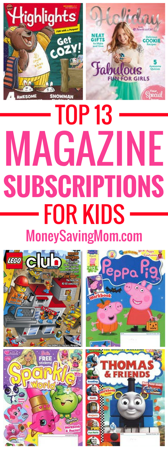 These top 13 magazine subscriptions for kids make GREAT non-toy gift ideas for Christmas! And it's a gift that gives all year long!