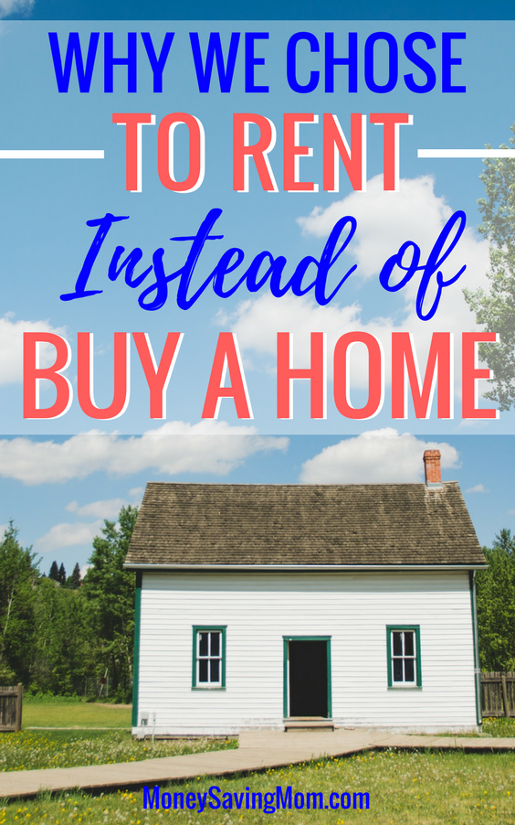 Why renting can sometimes be better than owning a home. This is such a great testimony of how renting a home can lead to financial freedom!