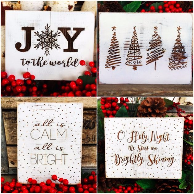 Get A Rustic Christmas Sign For Just $11.99 Shipped