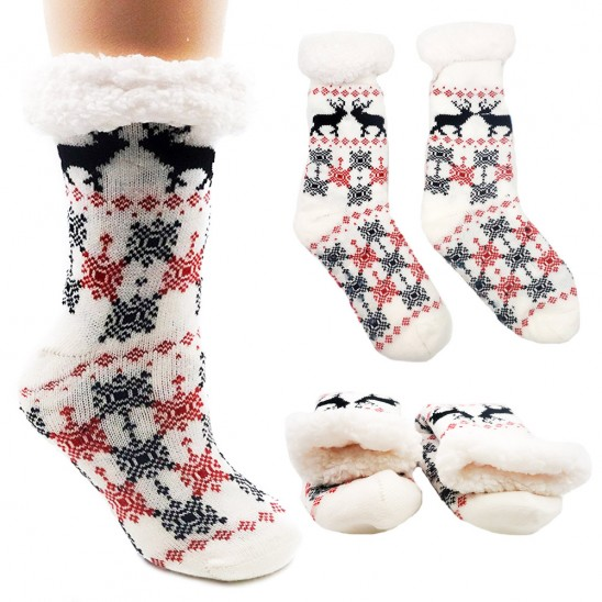 Get Faux Fur Lined Extra-Warm Cozy Socks for just $4.99 shipped!