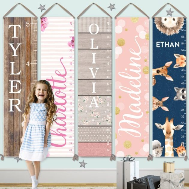 Get a Personalized Kids Growth Charts on Canvas for just $27.99!