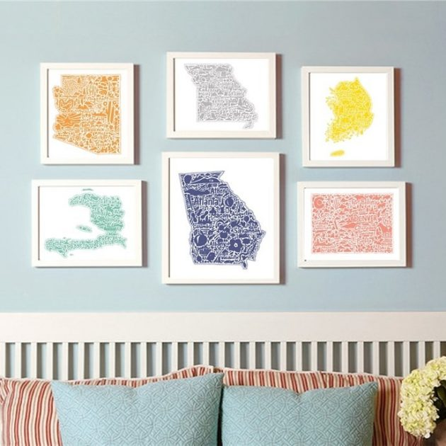 Get a Gorgeous Map Art in Color for only $7.99!
