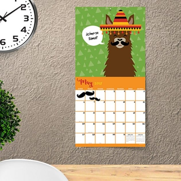 Get a Llama 2018 Calendar for just $10.99!