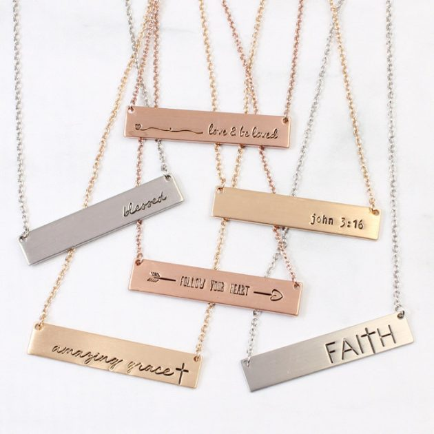 Get a Message Bar Necklace for only $4.99!