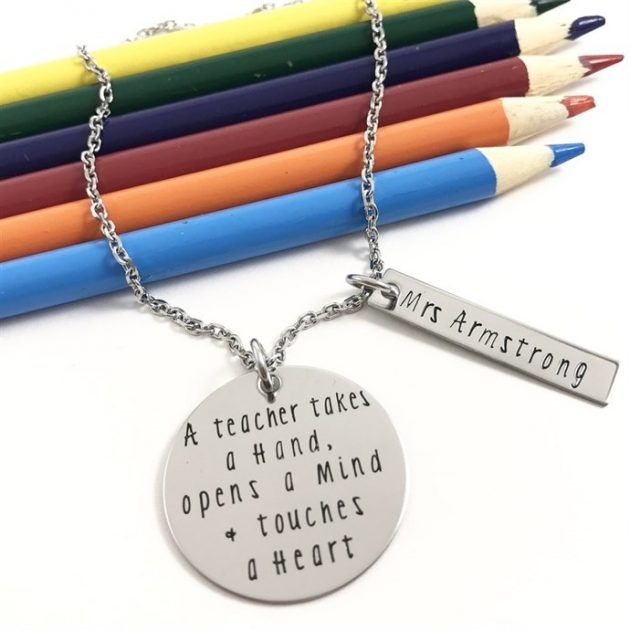 Get a Teacher's Gift Necklace for just $18.99 shipped!