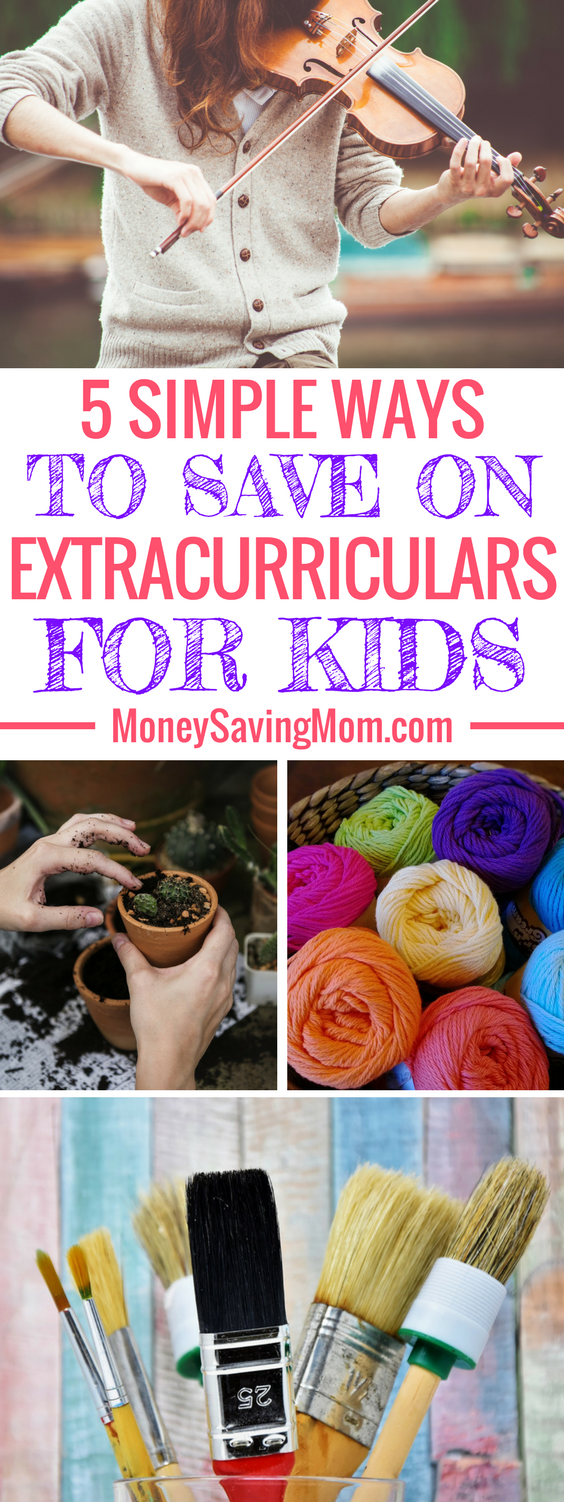 Save on kids extracurricular activities with these 5 simple tips! Fun, educational, and enriching activities don't have to cost a fortune!
