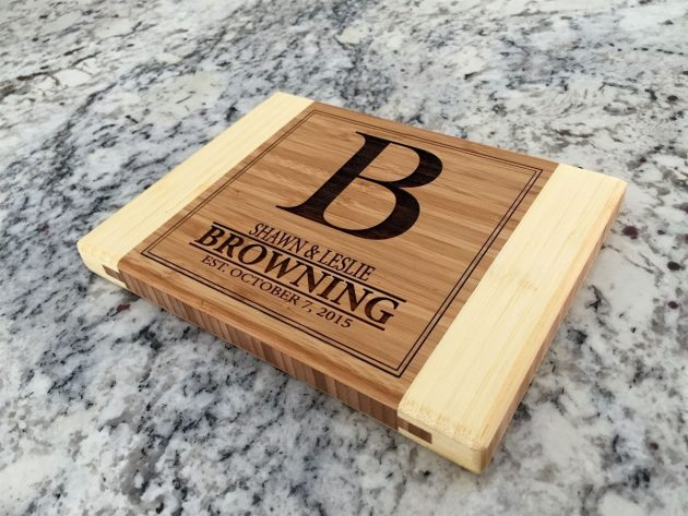 Get a Personalized 2-Tone Cutting Board for just $12.99!