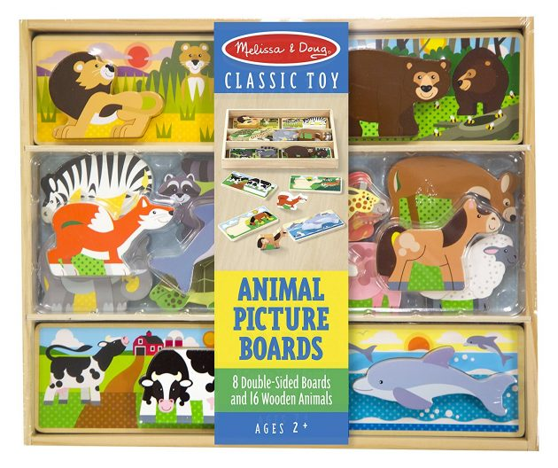 Amazon.com: Melissa & Doug Wooden Animal Picture Puzzle Boards with Chunky Wooden Animal Playpiece (24 Pcs) only $10.99!
