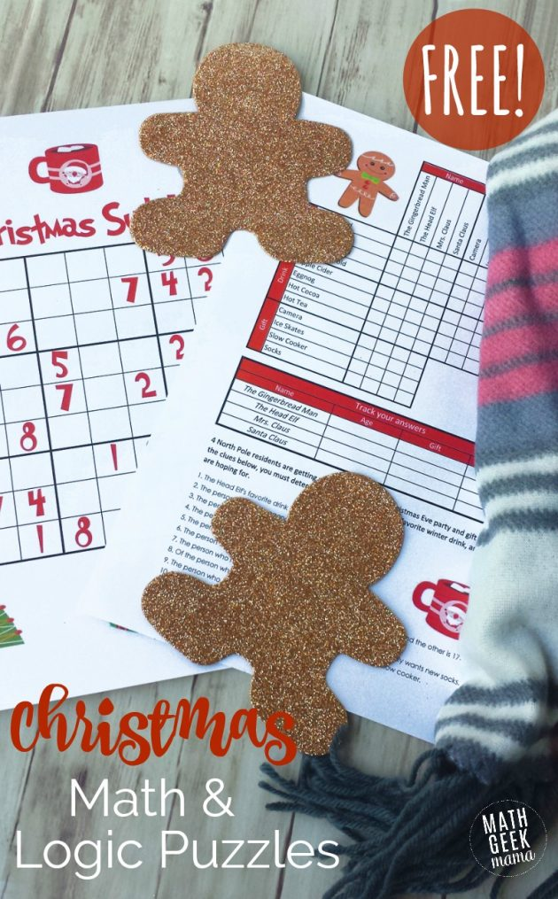 Free Printable Christmas Math Puzzles for Kids - Money Saving Mom®