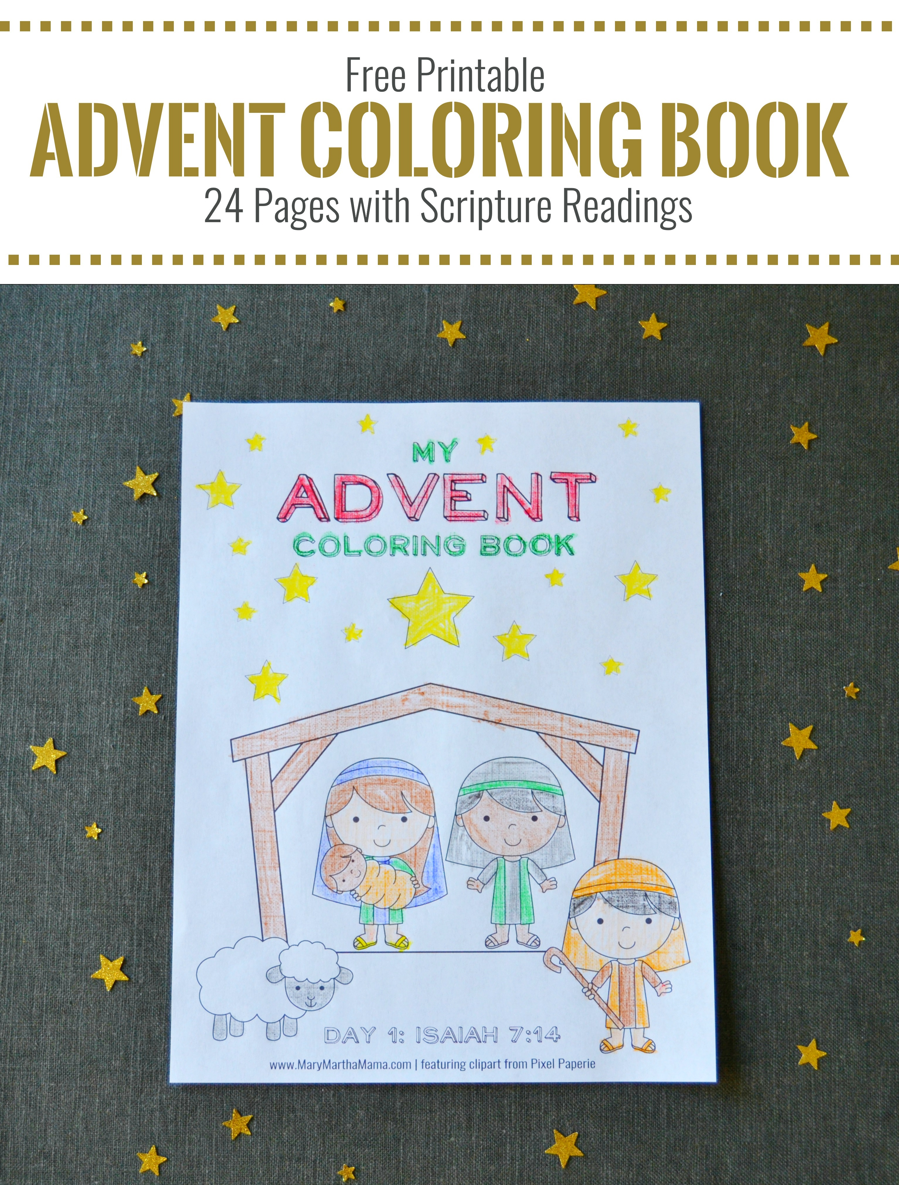 Free Printable Advent Coloring Book for Kids - Money ...
