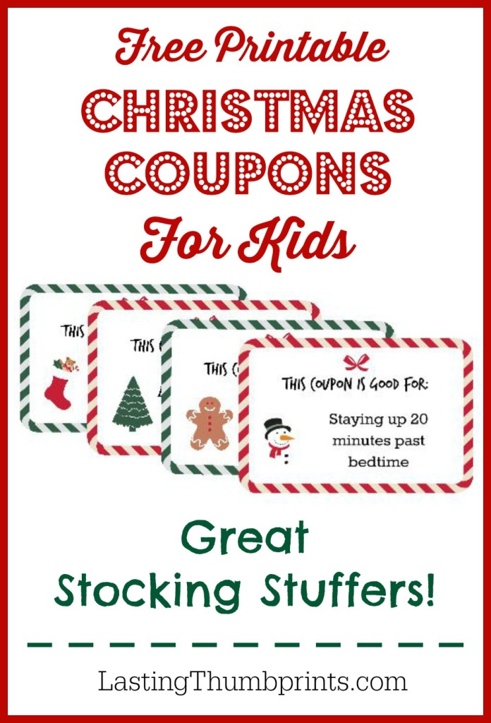 Free Printable Christmas Coupons for Kids - Money Saving ...