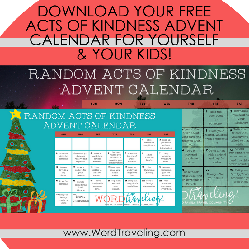 free printable random acts of kindness advent calendar