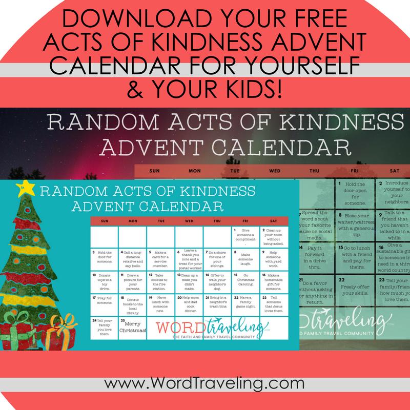 Diy Kindness Calendar : Free printable random acts of kindness advent calendar