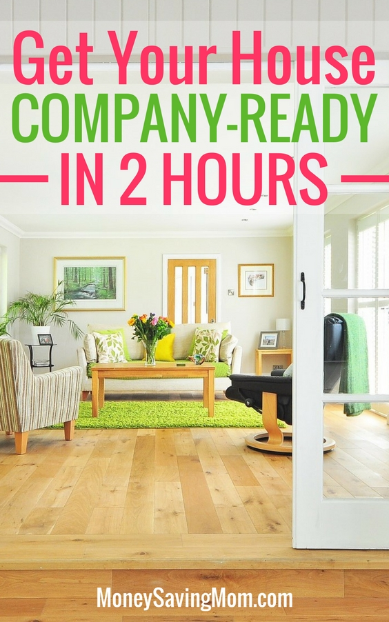 Get your house clean in 2 hours money saving mom for House company