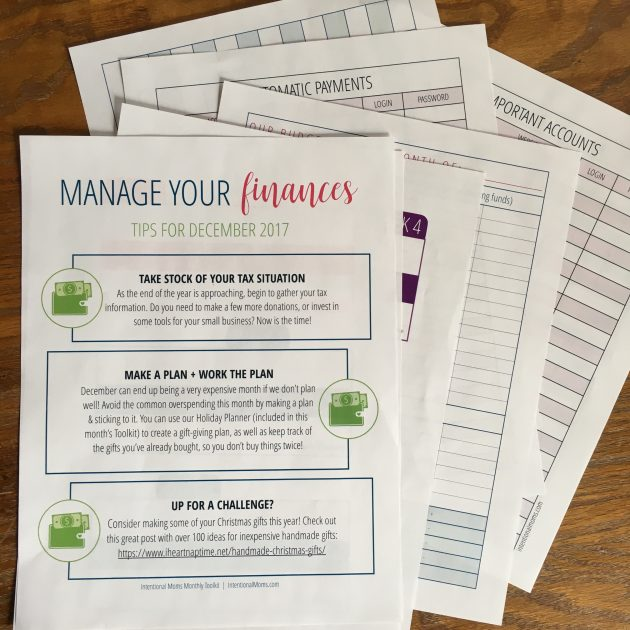 Get 25 off the intentional moms toolkit membership just 243 per december finance tips and budgeting printables perfect for getting your finances in order for 2018 fandeluxe Image collections