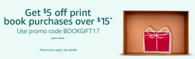 *HOT* Get $5 off any $15 book purchase on Amazon!