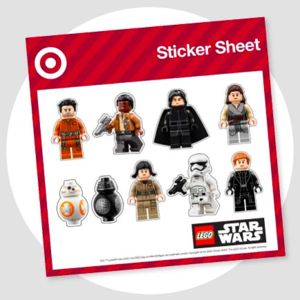 Target: Free Star Wars Stickers on December 16-17, 2017