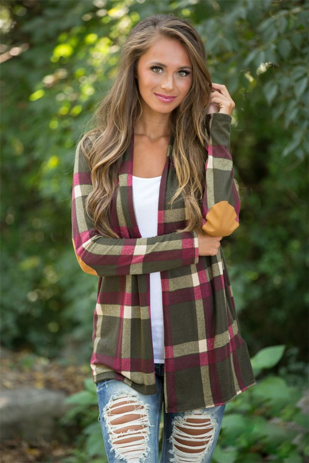 Get a Plaid Cardigan for only $18.99!