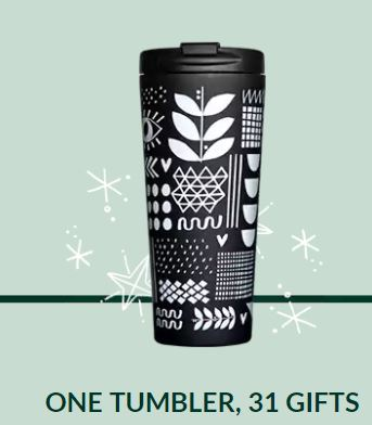 Starbucks: Purchase a tumbler, get free coffee all month long in January!