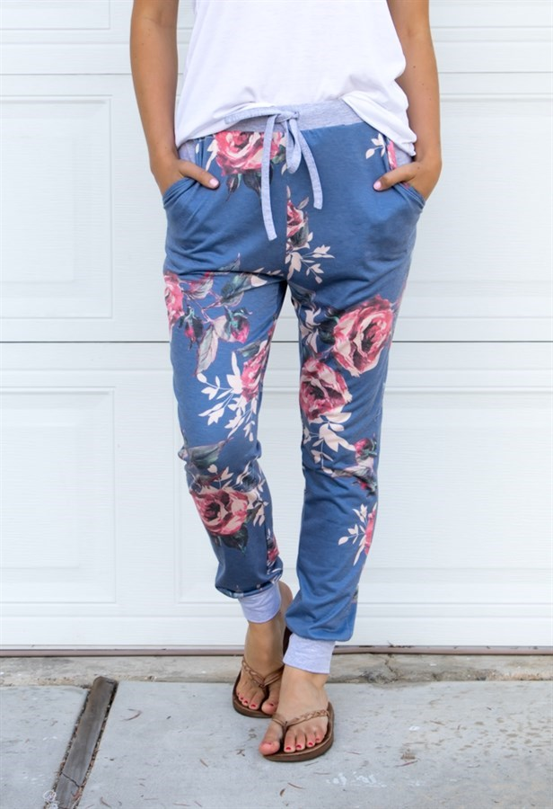 Get Floral Jogger Pants for only $12.99!