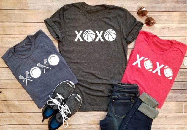 Get Pick Your Favorite Sport XOXO Tees for only $13.99!