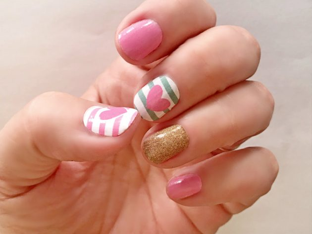 Get Valentine's Day Heart Nail Wraps for only $5.99!