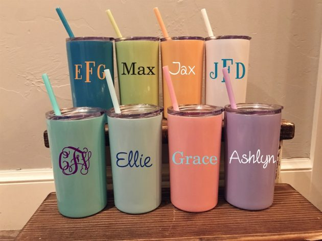 Get Kids Personalized Stainless Steel Tumblers for just $14.99!