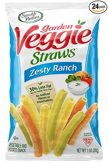 Amazon.com: Sensible Portions Garden Veggie Straws, 24 pack only $8.88 shipped!
