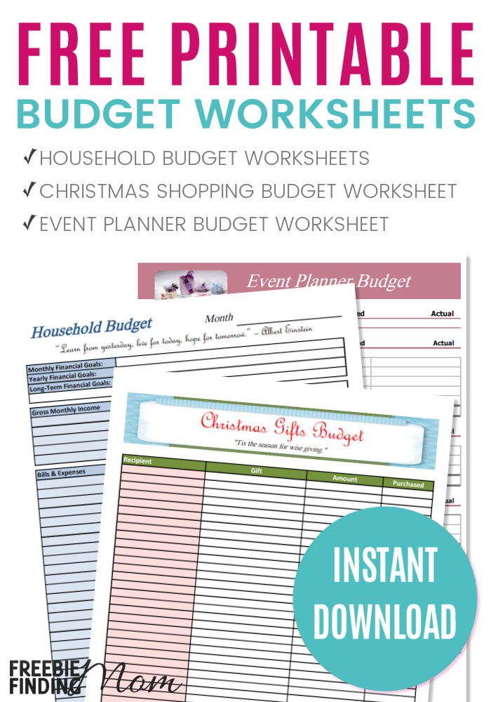 free printable 2018 budget worksheets