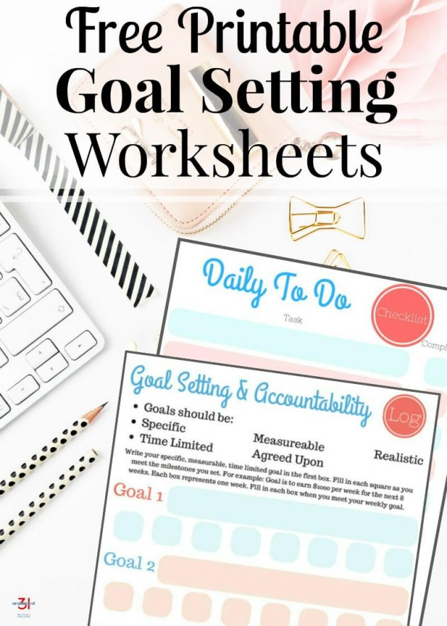 photograph regarding Free Printable Goal Sheets titled Cost-free Printable Objective Environment Worksheets Monetary Preserving Mother