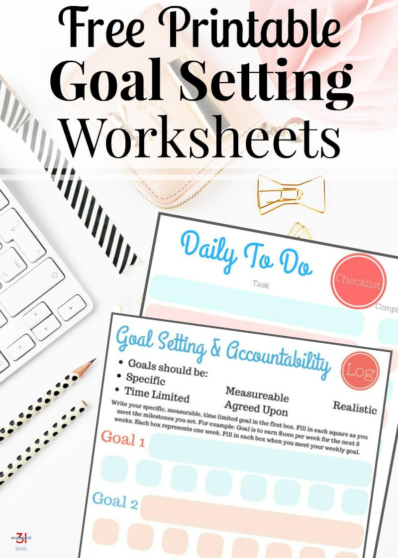 Free Printable Goal Setting Worksheets 3 on Smart Goals Worksheet For S