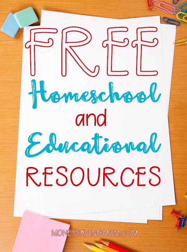 HUGE List of FREE Homeschool Curriculum & Resources | Money ...