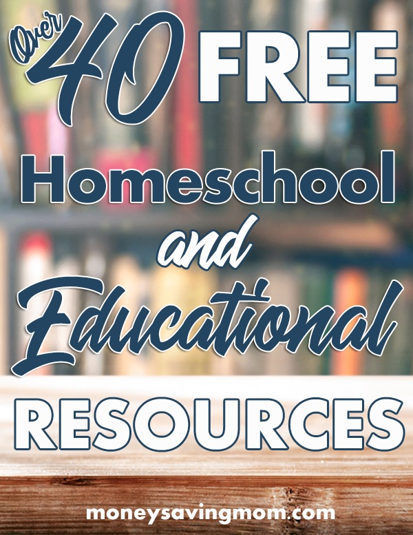 HUGE List of FREE Homeschool Curriculum & Resources (Over 40 ...