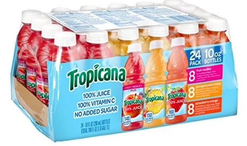 Amazon.com: Tropicana 100% Juice 3-Flavor Fruit Blend Variety Pack, Pack of 24 only $10.73 shipped!