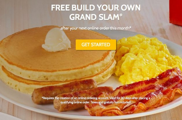 Denny's: Free Build Your Own Grand Slam Breakfast