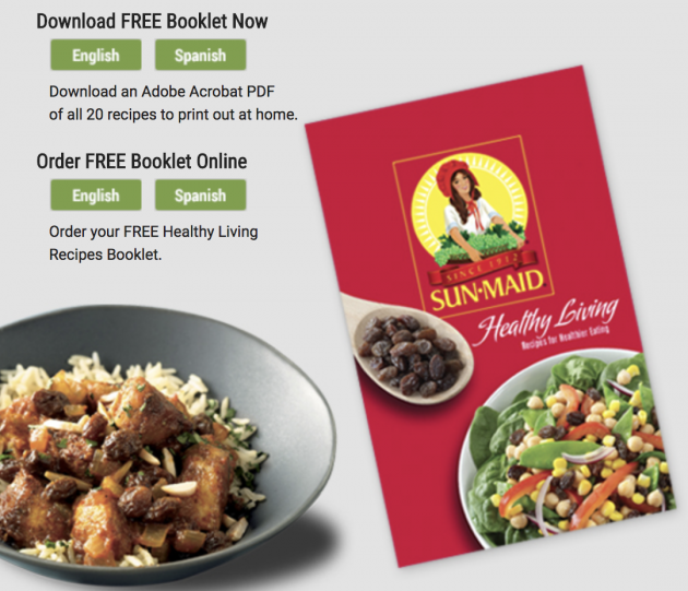 Free sun maid recipe booklets money saving mom money saving mom sun maid is offering two free recipe booklets right now grab a free sun maid healthy living recipe booklet and free 100th anniversary cookbook recipe forumfinder Image collections