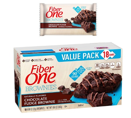 Amazon.com: Fiber One Brownie Bars (18 count) only $11.45 shipped!