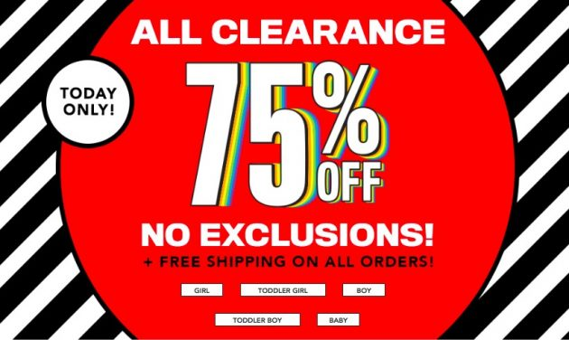 The Children's Place: 75% off All Clearance + Free Shipping!