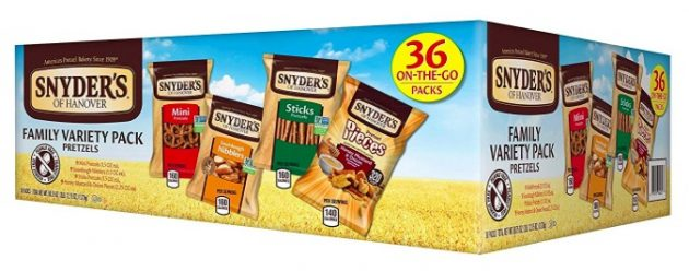 Amazon.com: Snyder's of Hanover Pretzel Variety Pack, 36 count only $7.64!