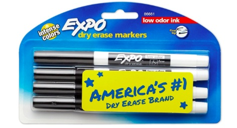 Amazon.com: EXPO Low-Odor Dry Erase Markers, 4 count only $1.99!
