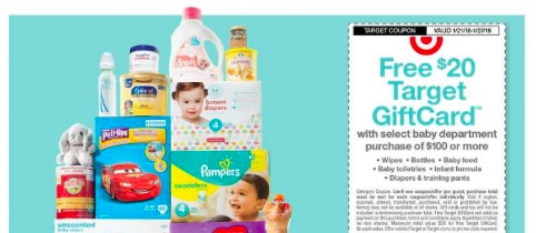 Target: Free $20 Target Gift Card with $100 Baby Department Purchase