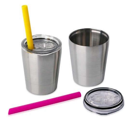 Amazon.com: Stainless Steel Sippy Cup with Lid and Straw, 2 pack just $12.47!