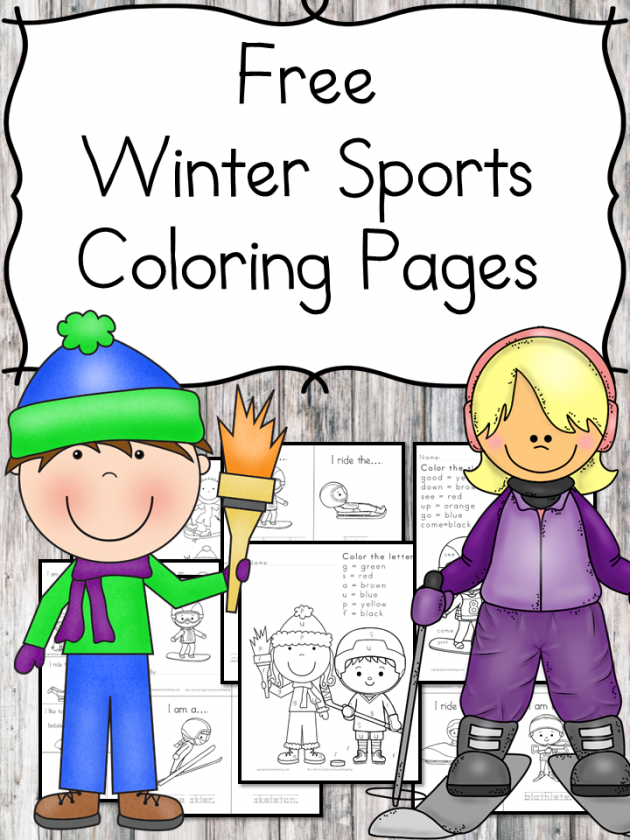 free printable winter sports coloring pages for kids money saving