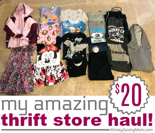 My amazing 20 thrift store haul money saving mom guest post from jennifer fandeluxe Choice Image