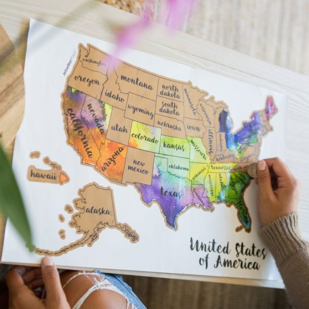 Get a Scratch Your Travels USA Map for $16.99 + shipping!