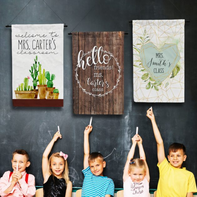 Get Personalized Teacher Classroom Flags for just $9.99 + shipping!