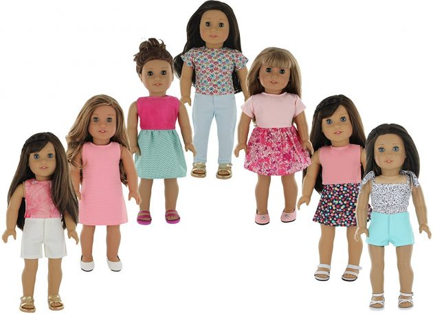 Amazon.com: American Girl Doll Clothes Wardrobe Makeover (7 Complete Outfits) just $22.75!