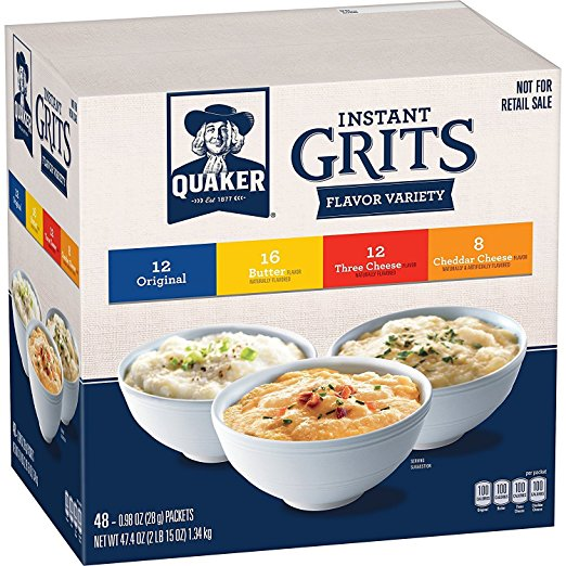 Amazon.com: Quaker Instant Grits Variety Pack (48 count) only $5.54 shipped!